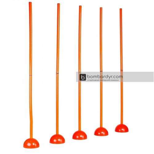 Стойка дриблинг с базой для помещения Europaw (комплект 5 шт. оранжевые) + сумка 2436