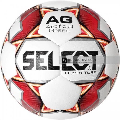 Мяч футбольный SELECT Flash Turf бел/красн 0574046003