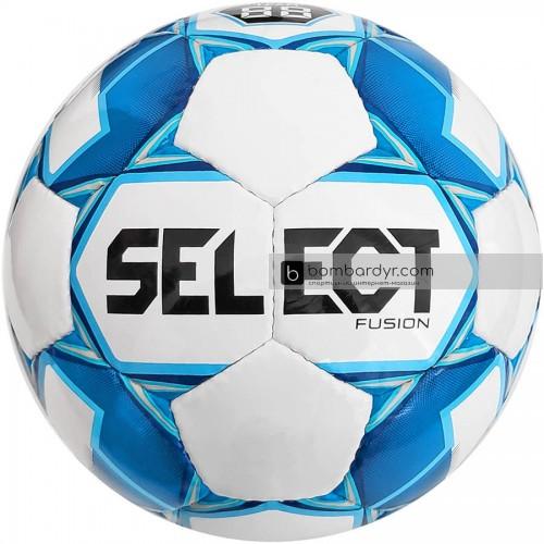 Мяч футбольный SELECT Fusion бел/син 3853121877