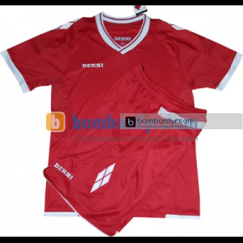 Футбольная форма для детей DERBI (красная)