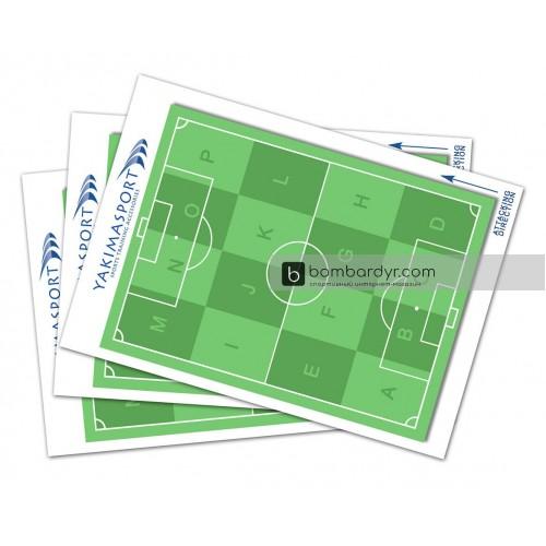 Тактический блокнот с зонами для футбола Yakimasport 100243