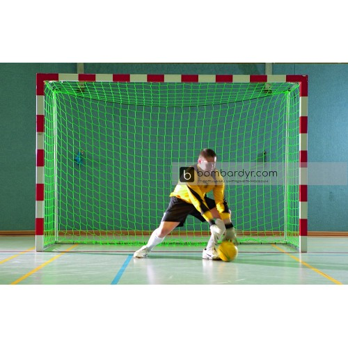 Сетка для футзальных ворот (гандбольных) 3x2м, 3 мм Yakimasport, зеленая 100104
