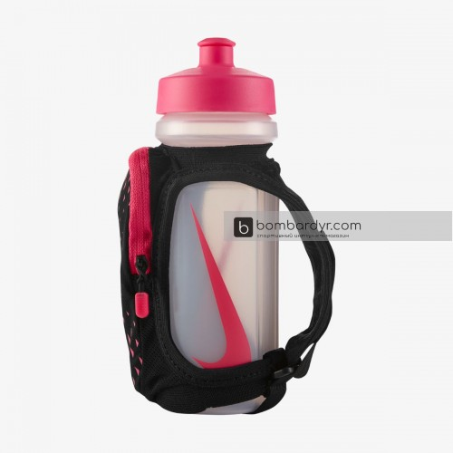 Бутылка для воды NIKE LARGE HANDHELD BOTTLE 22OZ BLACK/HYPER PINK/SILVER