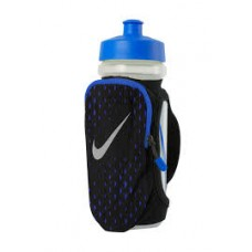 Бутылка для воды NIKE LARGE HANDHELD BOTTLE 22OZ BLACK/PARAMOUNT BLUE/SILVER
