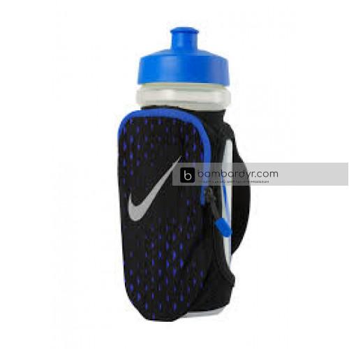 Бутылка для воды NIKE LARGE HANDHELD BOTTLE 22OZ BLACK/PARAMOUNT BLUE/SILVER