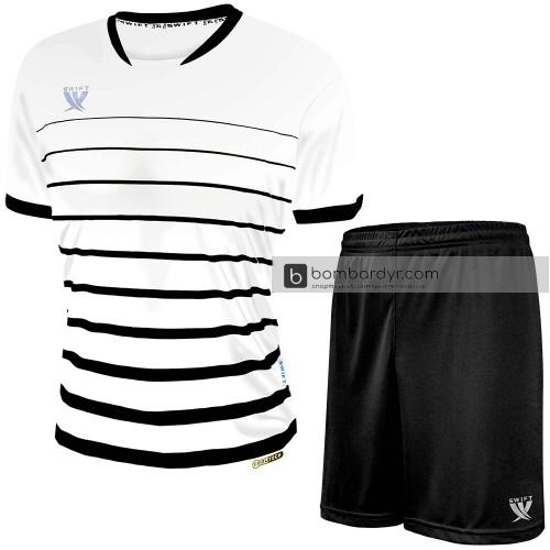 Форма футбольная Swift Fint (бело-черная)