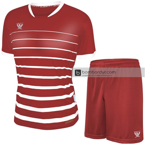 Форма футбольная Swift Fint (красно-белая)