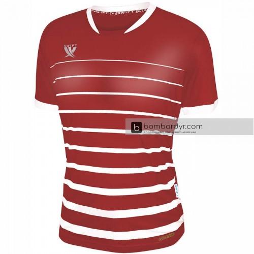 Футболка футбольная Swift Fint (красно-белая)