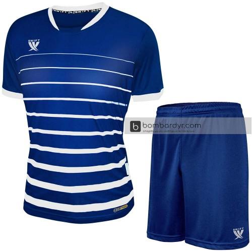 Форма футбольная Swift Fint (тёмно-сине-белая)
