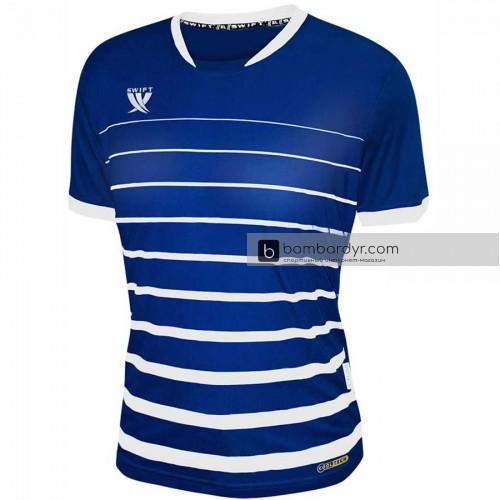 Футболка футбольная Swift Fint (тёмно сине-белая)