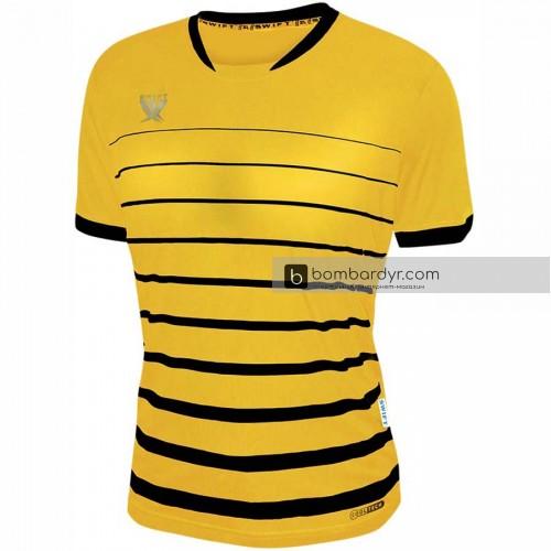 Футболка футбольная Swift Fint (желто-черная)