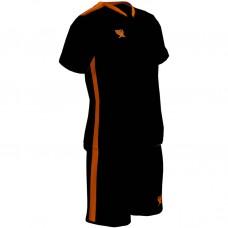 Детская футбольная форма Swift Prioritet черный-н.оранжевый