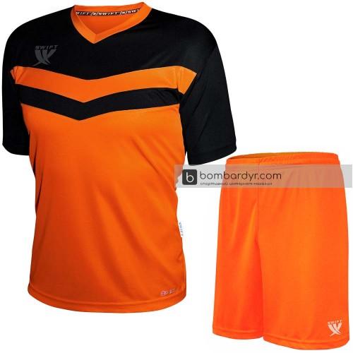 Форма футбольная Swift Romb CoolTech (неоново-оранжевая/черная)