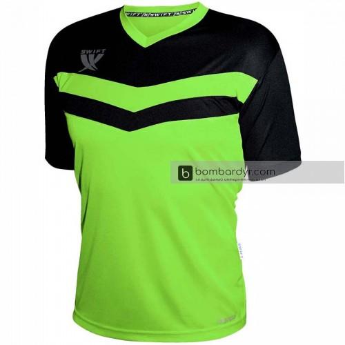 Футболка футбольная Swift Romb (салатово-черный)