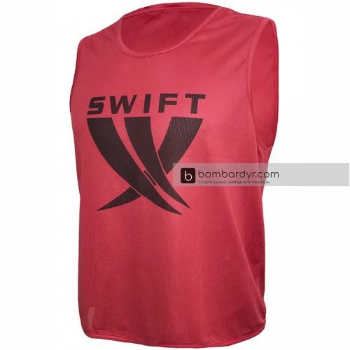 Манишки футбольные Swift детская, красная (сетка)