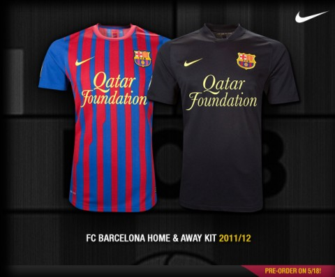 Барселона бейсболка детская 2011-12 Nike гранатово-синяя.