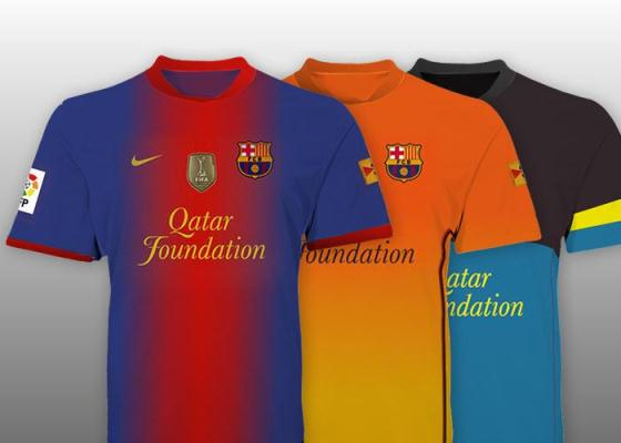 A Sneak Preview of FC Barcelona Shirts 2012-13.
